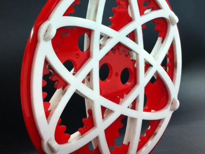 椭圆行星齿轮 3D打印模型渲染图