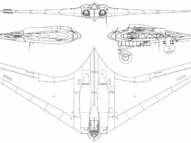 二战隐形战机Horten 229