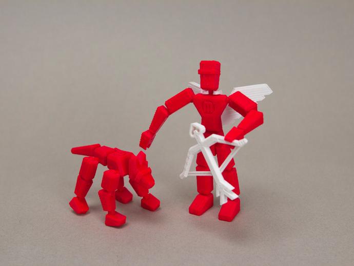 MakerBot玩具小狗 3D打印模型渲染图