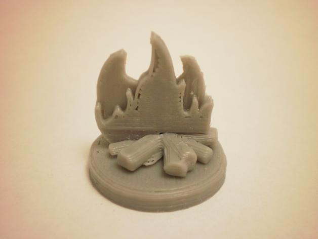 FlatMinis:篝火 3D打印模型渲染图