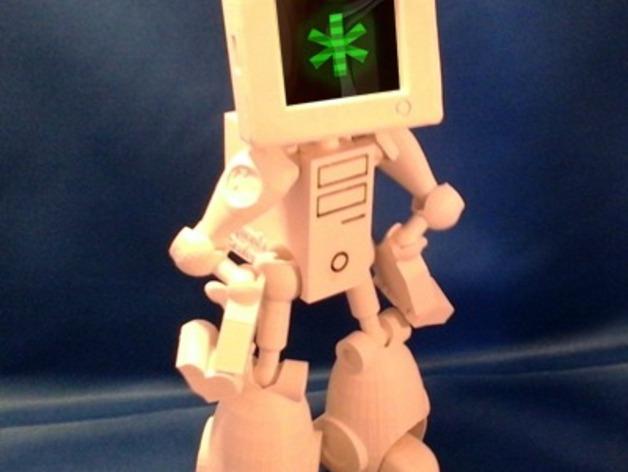 会跳舞的机器人模型 3D打印模型渲染图
