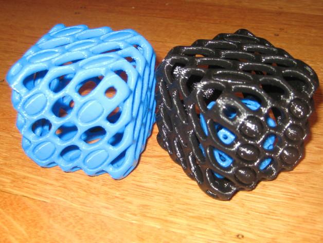 镂空的六面骰子 3D打印模型渲染图