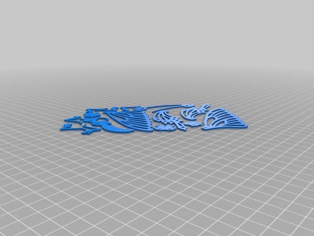 3D打印的蝴蝶拼图