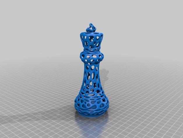 泰森多边形镂空象棋套件