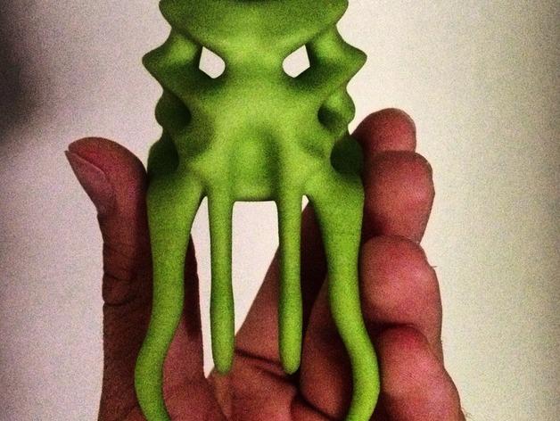 Omega面具 3D打印模型渲染图