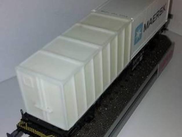HO玩具火车车厢 3D打印模型渲染图