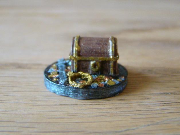 25毫米的迷你财宝箱V2 3D打印模型渲染图