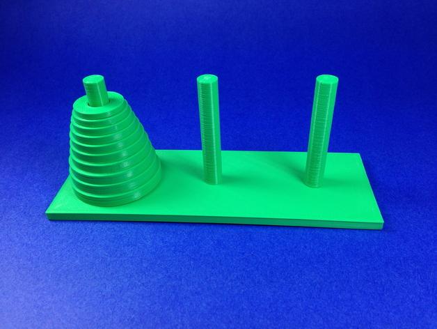汉诺塔模型 3D打印模型渲染图