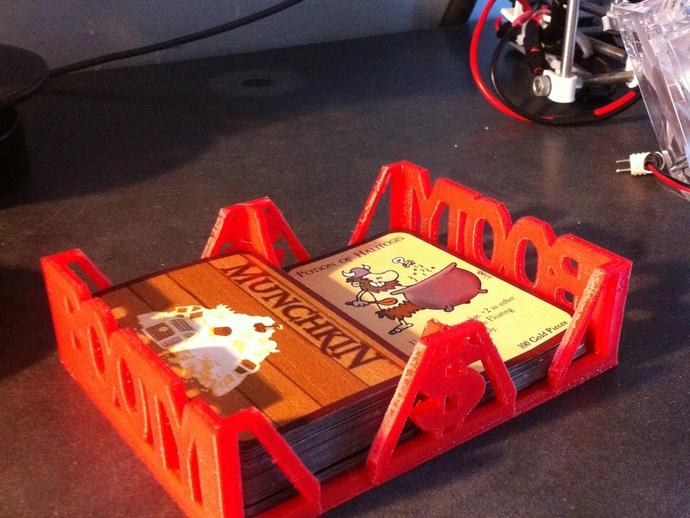 Munchkin卡片收纳盒 3D打印模型渲染图