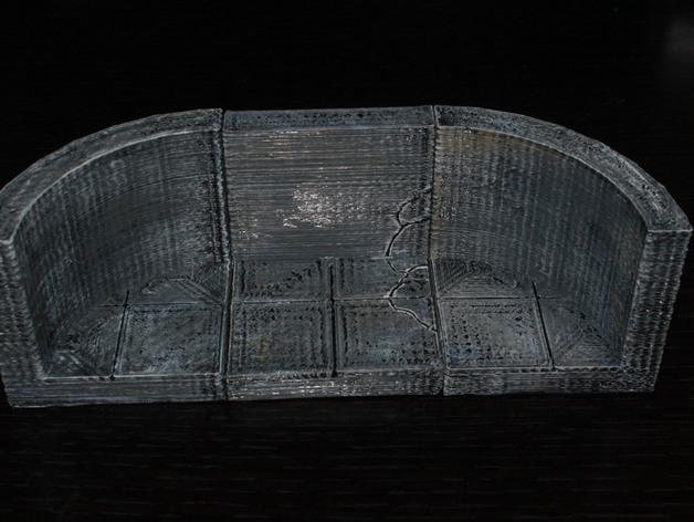 OpenForge椭圆形墙壁 3D打印模型渲染图