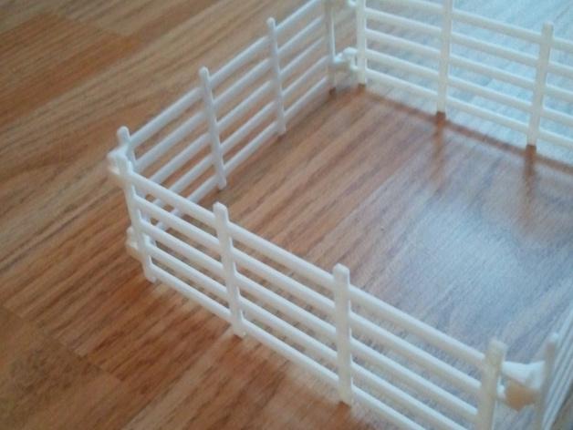 可连接的栅栏 3D打印模型渲染图