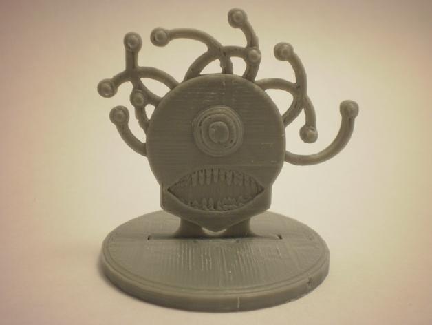 FlatMinis:巨眼怪 3D打印模型渲染图