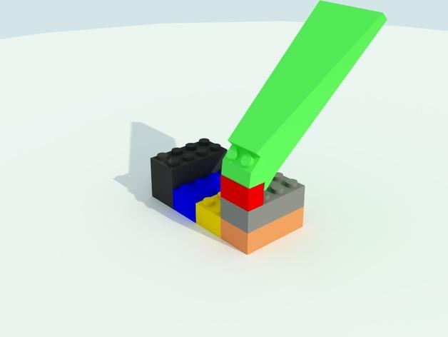 乐高方块分离器 3D打印模型渲染图