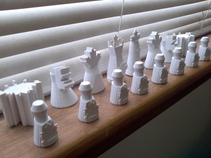 枫叶形象棋套件