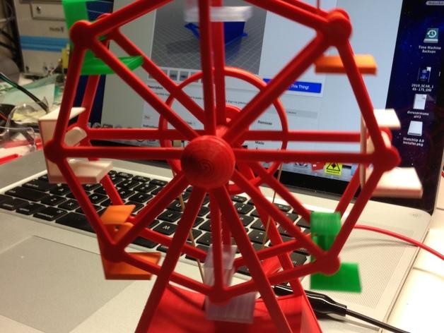 迷你摩天轮 3D打印模型渲染图