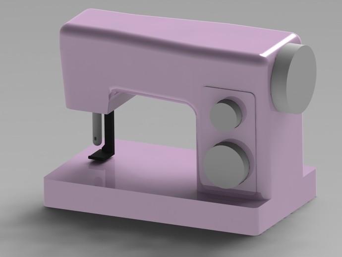 缝纫机玩具 3D打印模型渲染图
