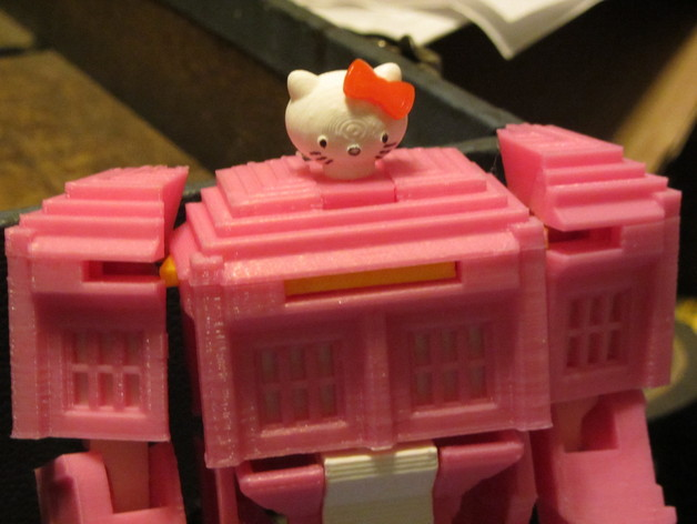 带有凯蒂猫头像的塔迪斯机器人