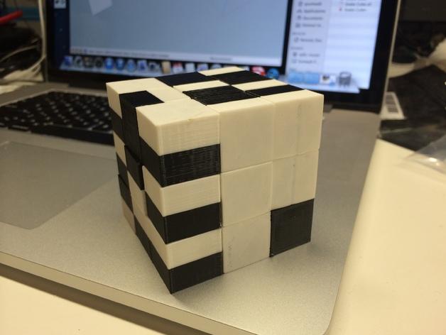 蛇形立方体拼图 3D打印模型渲染图