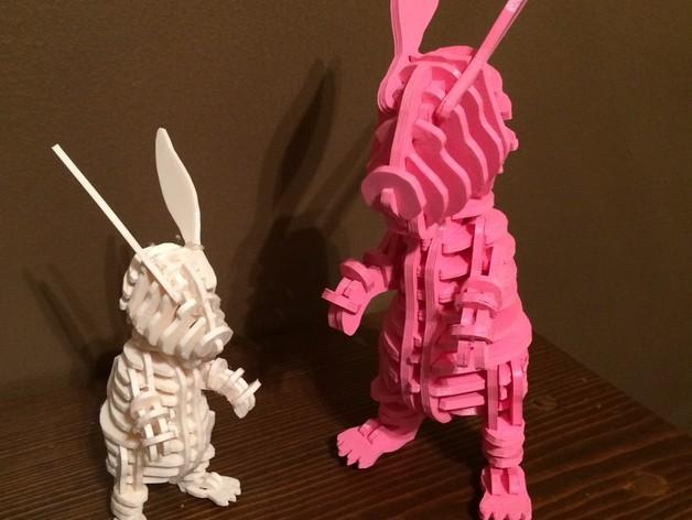 迷你图兔子拼图