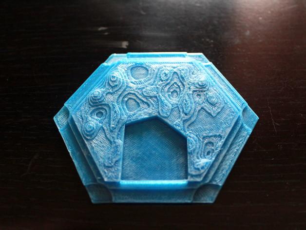 带有池塘的瓦片模型 3D打印模型渲染图