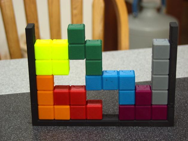 磁力俄罗斯方块玩具 3D打印模型渲染图