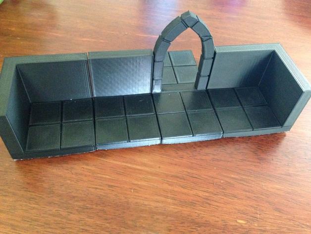 边缘平滑的拱门模型