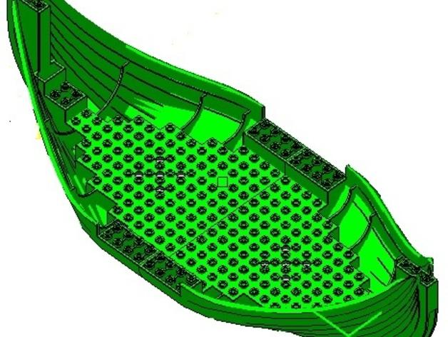 乐高加列战船 3D打印模型渲染图