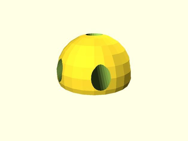 牙签制成的圆顶结构