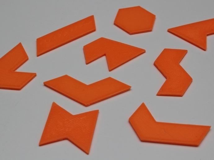 六边形拼图模型