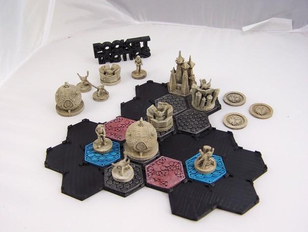 Pocket Tactics:外交使节团 3D打印模型渲染图