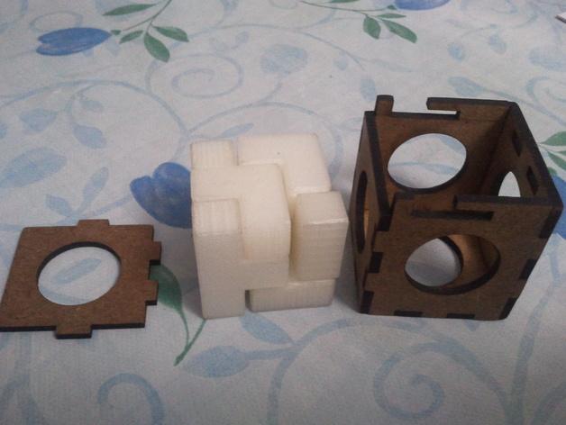 立方体拼图模型 3D打印模型渲染图