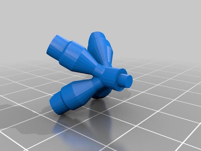 可打印的大脑齿轮模型