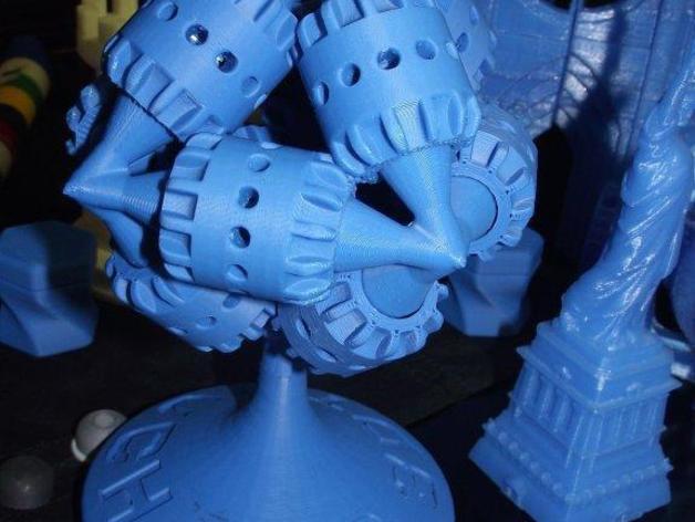 可打印的大脑齿轮模型 3D打印模型渲染图