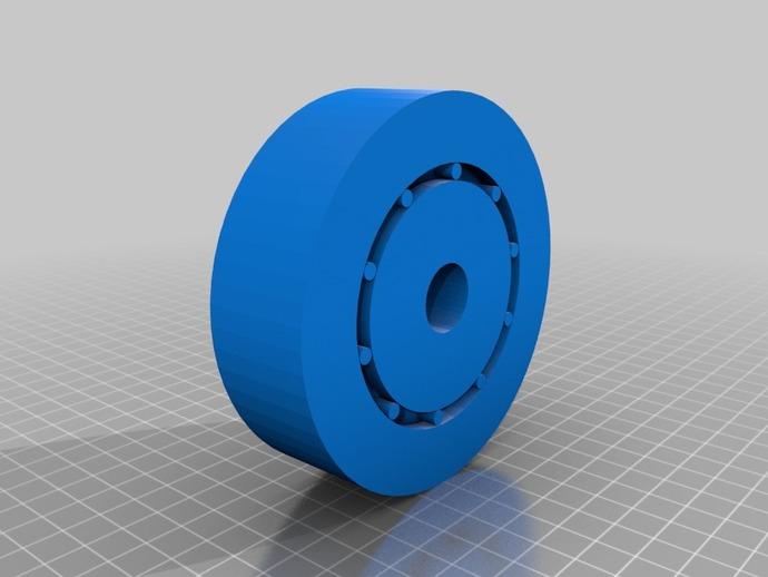 3D打印的滚珠承轴模型