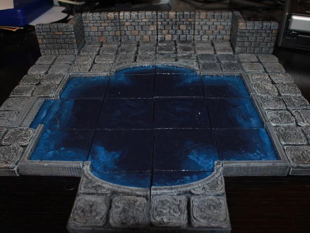OpenForge迷你水池模型 3D打印模型渲染图