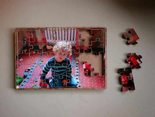 DIY相片拼图模型 3D打印模型渲染图