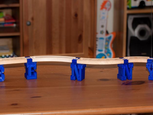 迷你火车桥支撑系统 3D打印模型渲染图