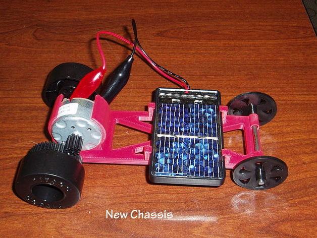 迷你太阳能车盘底座模型