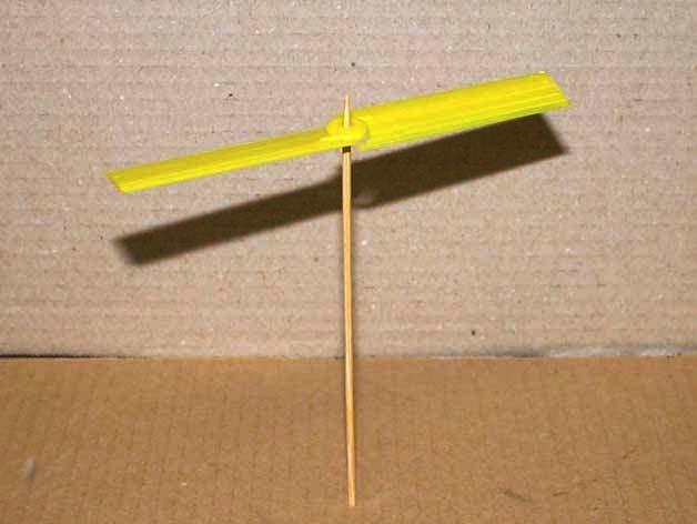 迷你竹蜻蜓 3D打印模型渲染图