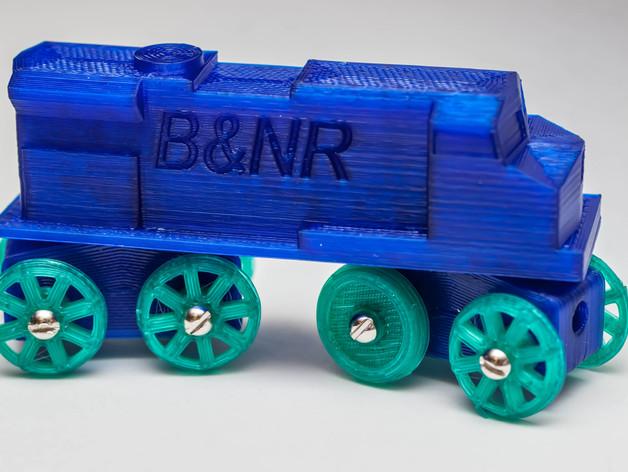玩具火车柴油发动机模型 3D打印模型渲染图