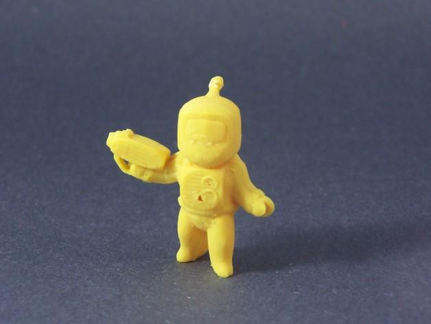 迷你星际人模型 3D打印模型渲染图
