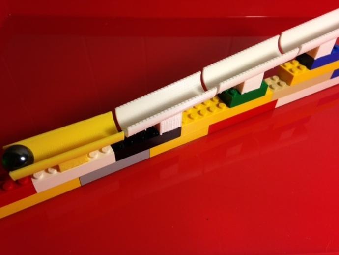 乐高滚珠轨道模型2 3D打印模型渲染图