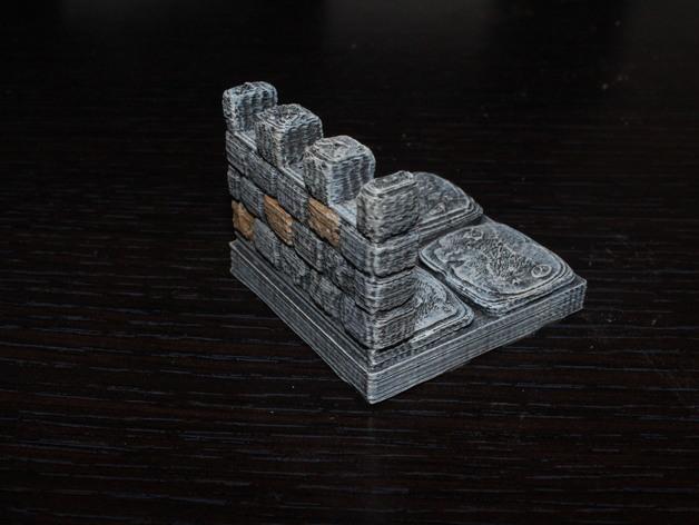 OpenForge雉堞墙 3D打印模型渲染图