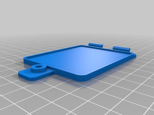 玩具火车电池盖模型