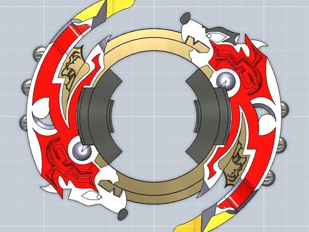 战斗陀螺攻击环模型 3D打印模型渲染图