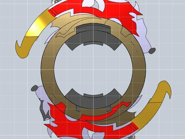战斗陀螺攻击环模型