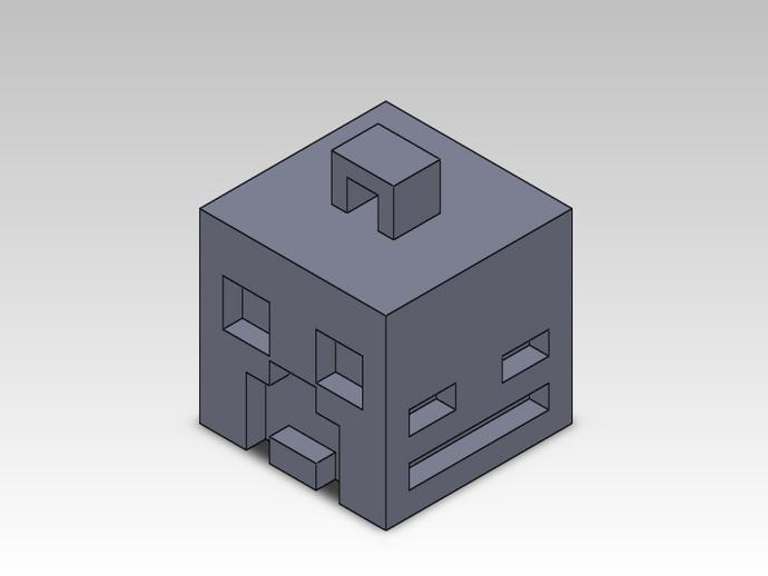 Minecraft人物钥匙扣模型