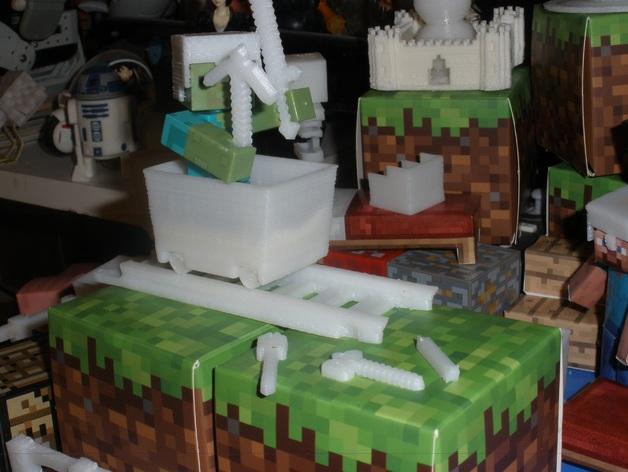 Minecraft玩偶武器包 3D打印模型渲染图