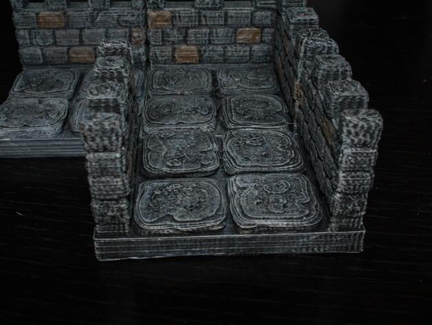 OpenForge雉堞走廊模型 3D打印模型渲染图