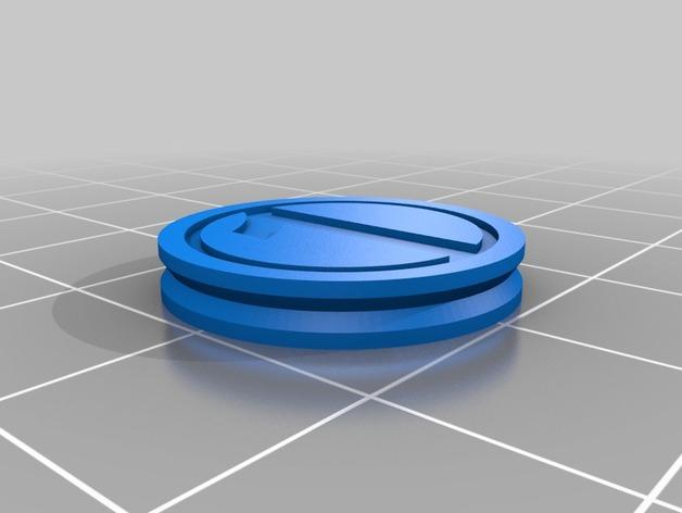 3D打印的双色钱币筹码模型